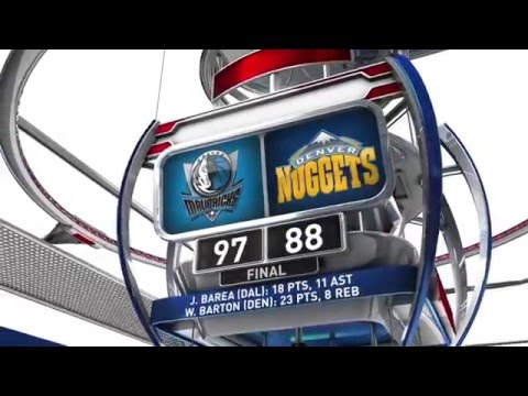 Dallas Mavericks vs Denver Nuggets - March 28, 2016