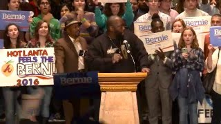 Killer Mike Introduces Bernie Sanders in Atlanta