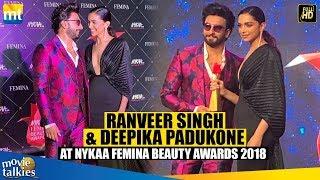ranveer Singh With Wife Deepika Padukone At Nykaa Femina Beauty Awards 2019