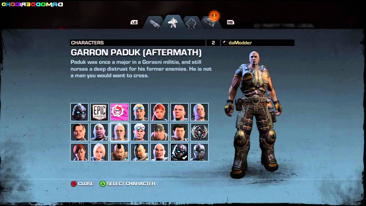 Gears Of War Judgment All Characters Unlocked YouTube