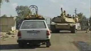 USA army in IRAQ destroy a civil car