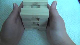 Jenga blocks Stacking ASMR, part 6