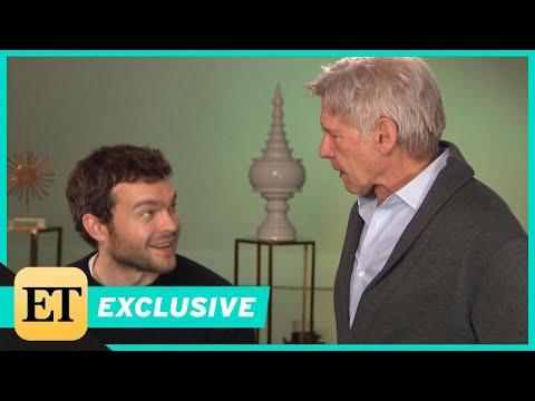 Watch Harrison Ford Surprise Young Han Solo Alden Ehrenreich During ET Interview (Exclusive)