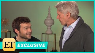 Watch Harrison Ford Surprise Young Han Solo Alden Ehrenreich During ET Interview (Exclusive)