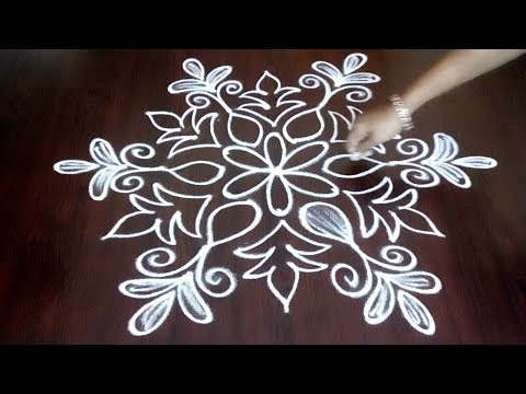 Easy & Quick 3 x 2 Kolam With Simple Steps || New Rangoli Design Ideas For Learners || Fashion World