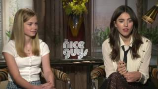 The Nice Guys: Angourie Rice & Margaret Qualley Official Movie Interview