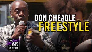 Don Cheadle's 'Avengers' Freestyle Rap