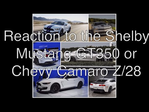 Shelby Mustang GT350 and Chevy Camaro Z/28