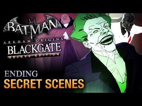 Batman: Arkham Origins Blackgate - All Post-Credits Scenes [Deluxe Edition]
