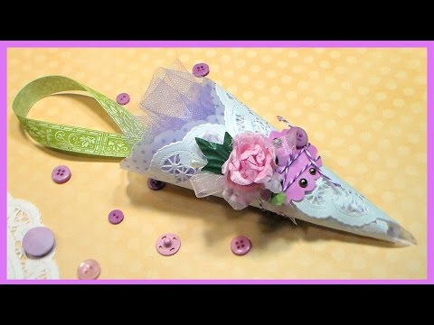 DIY Victorian Paper Cone for Easter, Weddings or Showers