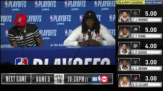 Lou Williams & Montrezl Harrell Postgame Interview | Clippers vs Warriors Game 2