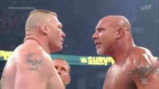 Bill Goldberg vs Brock Lesnar - WWE Survivor Series 2016 Full Match