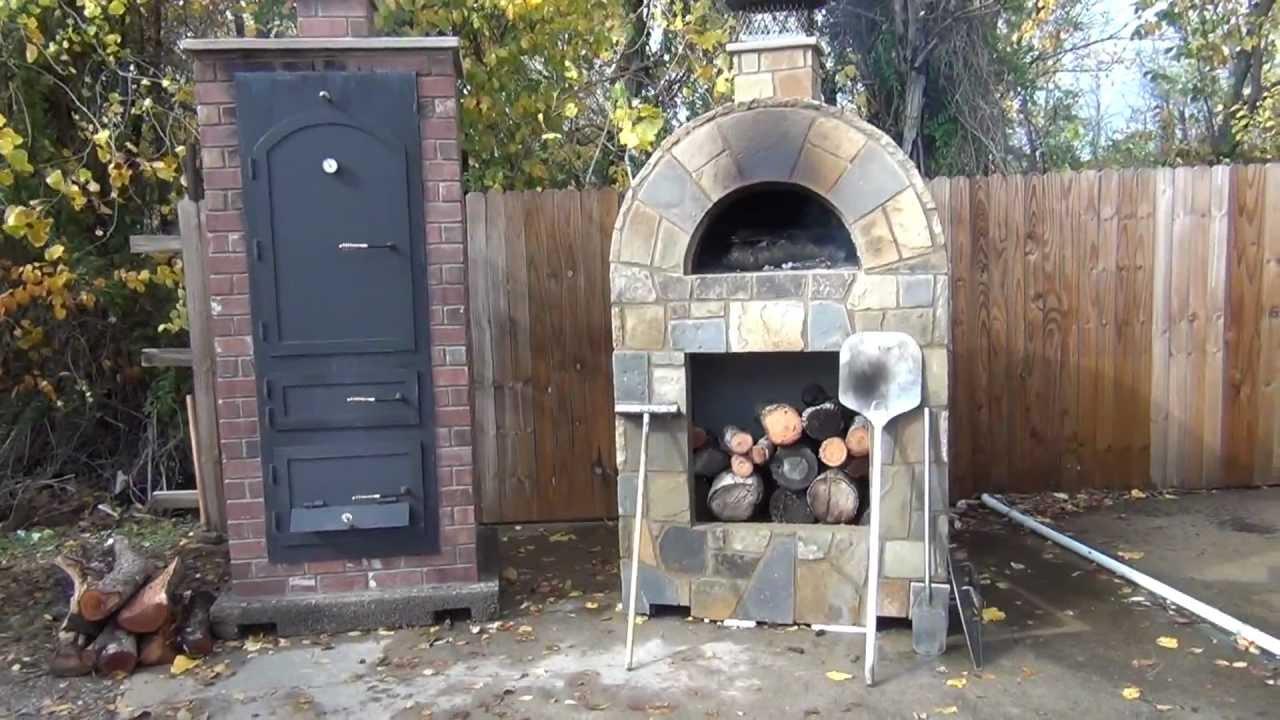 StoneAge Amerigo Pizza Oven and Big Pig Masonry Smoker - YouTube