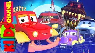 Halloween Night | Monster Truck Dan | Car Cartoon Videos For Babies