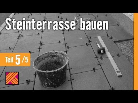 Steinterrasse Bauen - Kapitel 5: Terrassenplatten Verlegen & Verfugen | HORNBACH Meisterschmiede