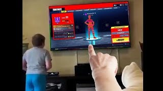 my little brother hacked fortnite...then this happened