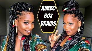 Jumbo Box Braids Tutorial | MISSKENK