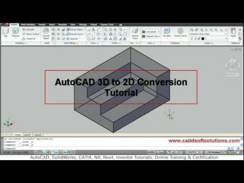 AutoCAD 3D to 2D Conversion Tutorial   Flatshot Command   AutoCAD 2010
