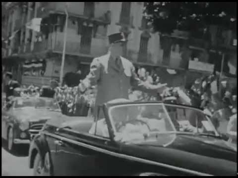 Algerian War of Independence (1960) CIA Archives French President Charles De Gaulle.
