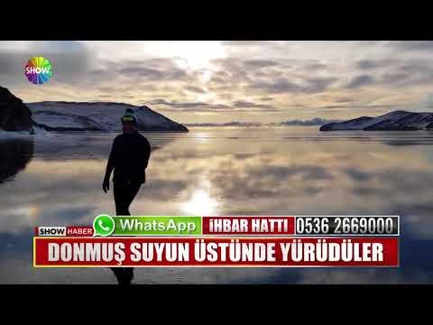 Donmuş suyun üstünde yürüdüler