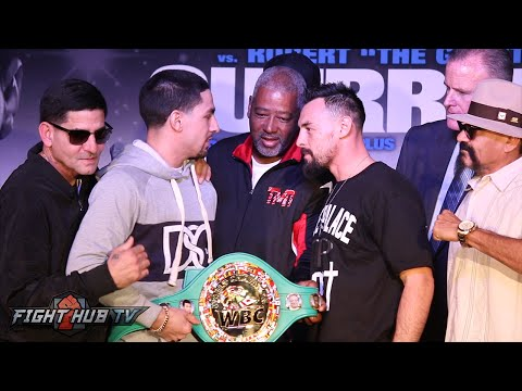 Danny Garcia & Robert Guerrero fight over WBC belt during Intense face off