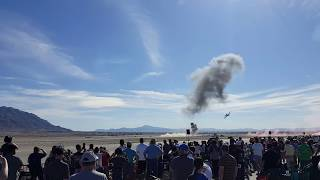 "Simulated attack on Nellis Air Force Base, Airshow Air & Space exhibit 11/11/17. ""AMAZING must see"""