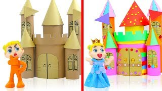 SUPERHERO BABY BUILDS COLOFUL CASTLE 💖 Play Doh Cartoons Animation