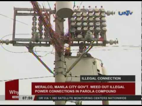 MERALCO, Manila City Gov't weed out illegal power connections in Parola compound
