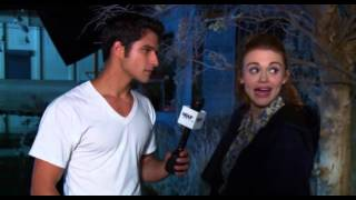 Tyler Posey funny BTS moments on Teen Wolf set (Season 4)