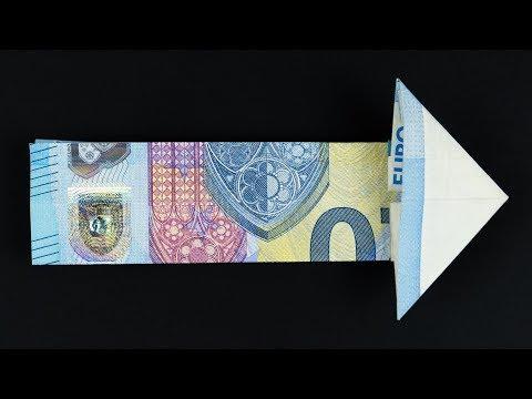 Lustige Geldgeschenke Basteln Geldschein Falten Krawatte Idee
