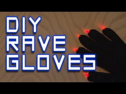 DIY Rave Gloves!