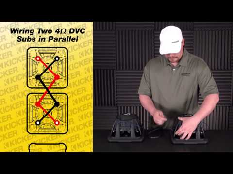 Subwoofer Wiring: Two 4 ohm DVC Subs in Parallel