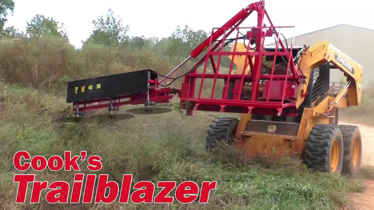 Cook's Trailblazer - Tree limb, small tree, and brush cutter for skid steers