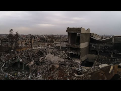 Drone footage shows extent of Mosul destruction