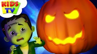 There's A Scary Pumpkin   Halloween Songs For Kids    Halloween Cartoon Videos by Kids TV