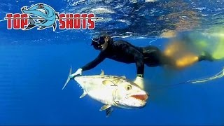 Top Shots Spearfishing News - Awesome Dogtooth Tuna action