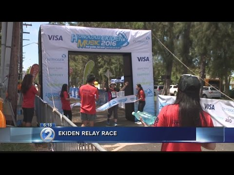 Locals, visiting Japanese come together for relay race, concert