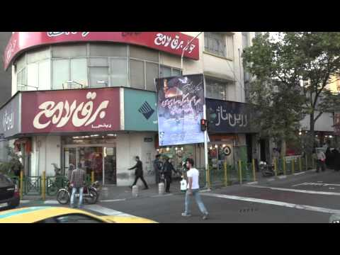 Driving through city of Tehran
