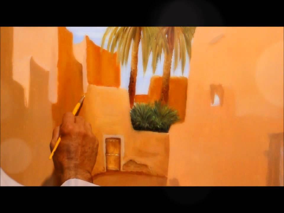 دورة العمارة / الفنان التشكيلي صالح النقيدان 2/3 - YouTube