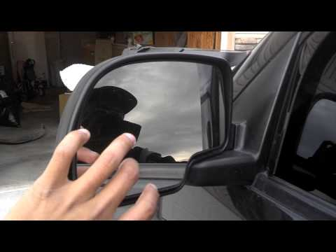 Chevy silverado tow mirrors install part 1
