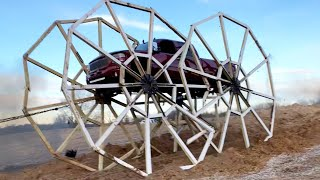 Truck Drives on 20 FOOT TALL WHEELS (World Record)