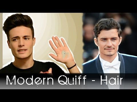 Modern Quiff Men's Hairstyle    nspired by Orlando Bloom's Look