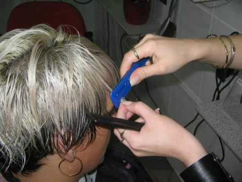 Frizura u slikama-postupak