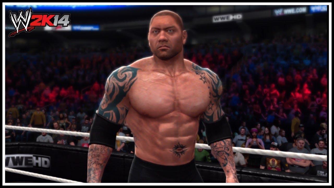 Batista 2014 Tattoos WWE 2K14 - Batista 201...