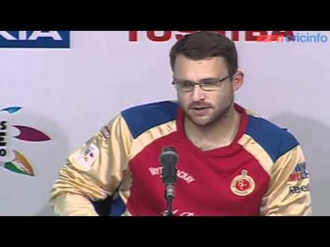 Daniel Vettori - Press Conference, Royal Challengers Bangalore v Mumbai Indians