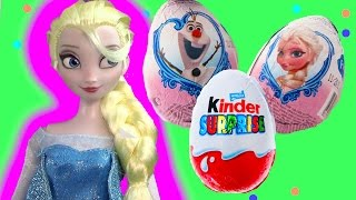 Disney Frozen Kinder Surprise Mystery Eggs Opening Toy Unboxing Video