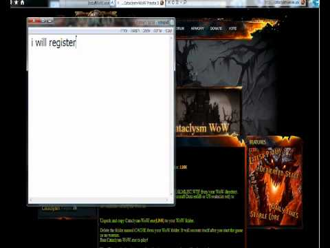 Guide how to install WoW private server cataclysm.wmv