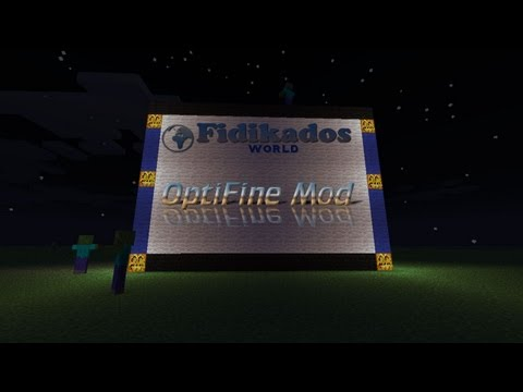 OptiFine Mod - Minecraft Mod Tutorial 1.4.6 - Installation und MC Patcher Test - FidikadosWorld