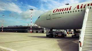 Omni Air International ( OAI ) 777-200ER in Sibiu
