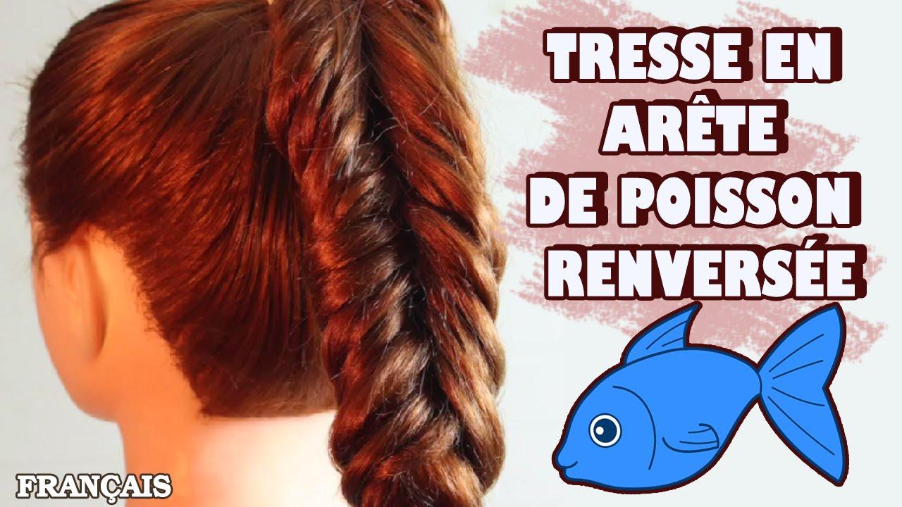 Comment faire la tresse en ar te de poisson renvers e reverse fishtail braid diy french - Tresse queue de poisson ...